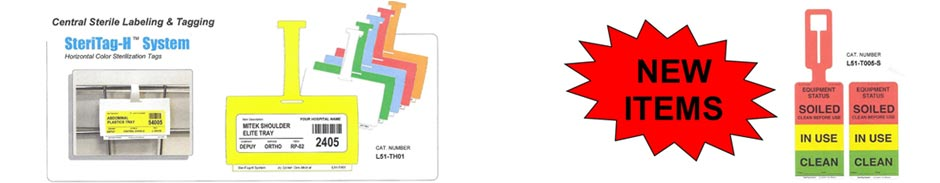 Horizontal Color Steriliztion Tags
